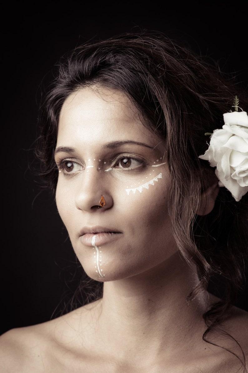 Crock Vis Nez Stud Mère Jour vente Fleur Nez Piercing Indian Nose Stud cadeau