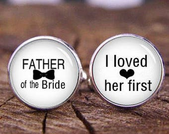 Father Of The Bride Cufflinks, Father Of The Groom Cuff Links, Custom Initals Or Date Cufflinks, Custom Wedding cuff Links, Tie Bars, Or Set