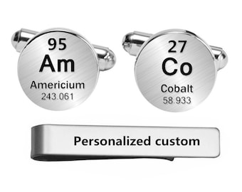 Periodic table cuff etsy periodic table of elements cufflinks wedding engraved cuff links engrave element custom personalized periodic table engraved cuff links gift urtaz Images