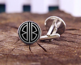 monogram cufflinks, personalized initial cufflinks, custom 2 letter, custom wedding cufflinks, groomsman, groom cufflinks, tie clips, or set