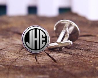 Monogram Cufflinks, Men's Jewelry, Birthday Gifts, Custom Initial Cufflinks, Monogram Cuff Links, Wedding Cufflinks, Groom Cufflinks, Gifts