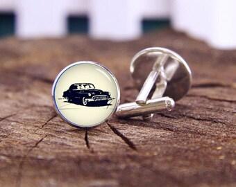 Old Car cufflinks, bubble car cuff links, custom cars cufflinks, cars jewelry, custom wedding cufflinks, groom cufflinks, tie bars or set