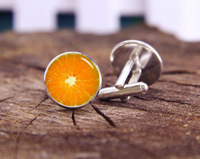 Orange Fruit Cufflinks