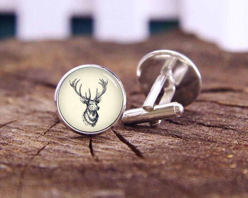 Groom Cufflinks Buck Cufflinks Elk Cufflinks Tie Clips Or Set Vintage Deer Head Cufflinks Custom Wedding Cufflinks Deer Cuff Links