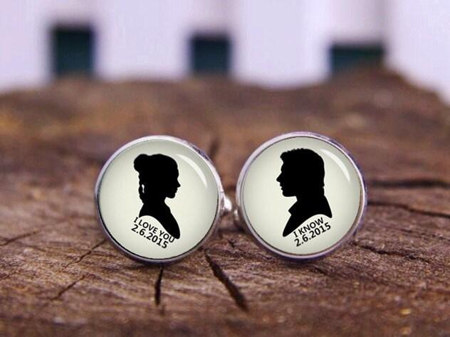 boutons de manchette de mariage personnalis boutons de etsy. Black Bedroom Furniture Sets. Home Design Ideas