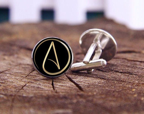 Atheist Symbol Atheist Atom Symbol Cuff Links Atheist Etsy