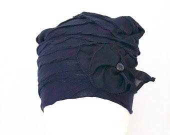 Chapeau de chimio,chapeau bleu,couvre tête, cancer,turban,bonnet,chimiothérapie,béret  bleu,chapeau souple,alopécie 1d7cf34007b