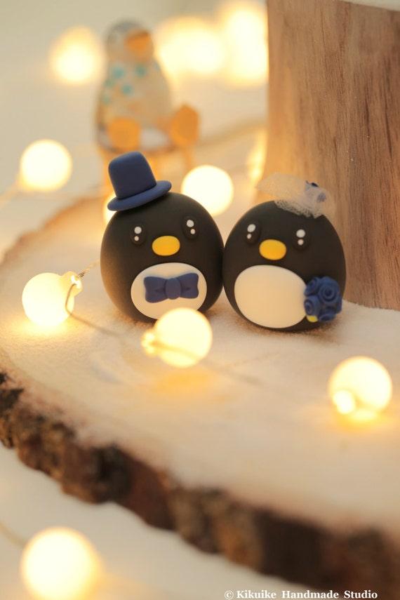 Penguins wedding cake topper | Etsy