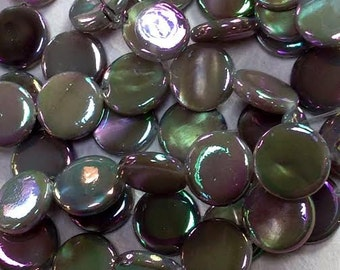0856.002 Mother of Pearl 10mm Disc /Iridescent Grey