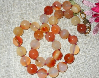 Carnelian - agate choker necklace