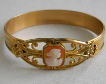 1920s cameo bracelet