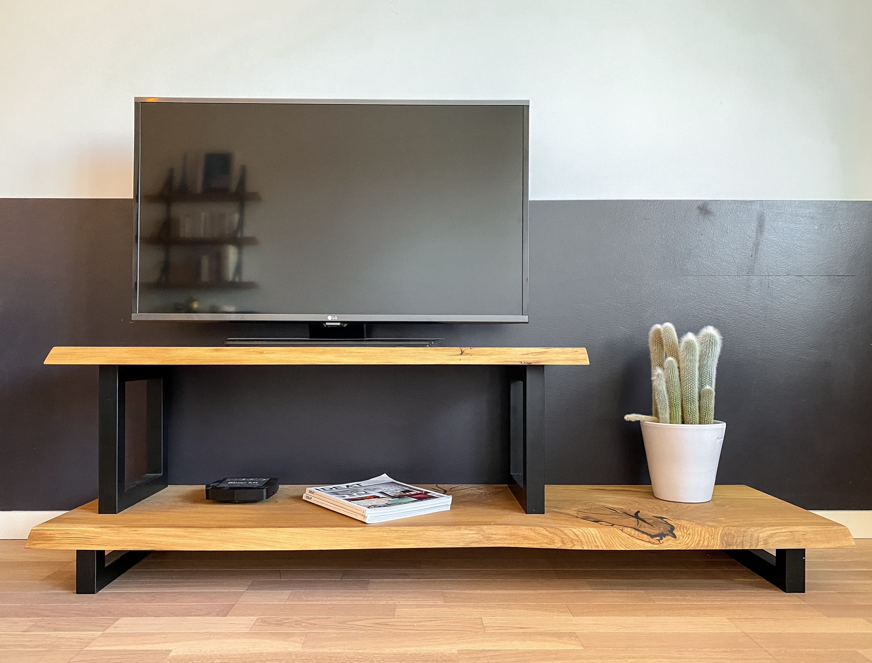 Furniture Tv Console Solid Oak Metal Custom Bespoke
