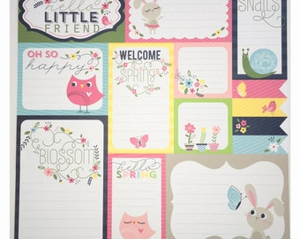 Spring journaling - Welcome spring patterned paper