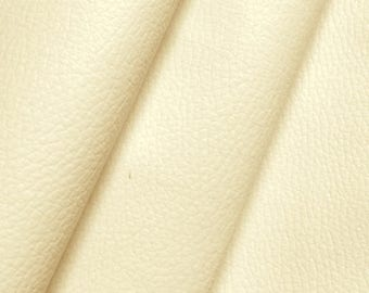 Coupon of synthetic leather - cream - 68 x 68 cm
