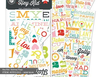 """""""Hey Kids"""" collection - Pink Paislee tags labels"""