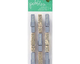 "Decorative wooden clothespins ""From me to you"""