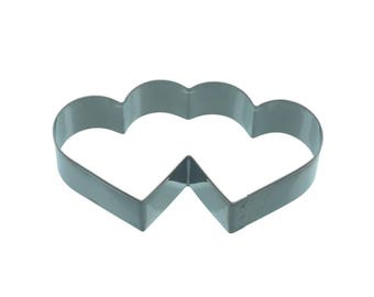 Cookie cutter cookie metal 11.5 cm - double heart shape