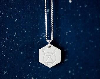Geometric Aries Necklace. ARIES Zodiac. Silver Minimalist Zodiac Sign Necklace. Astrology Jewelry. Gift For Her. Unique Zodiac Sign. Kreeft