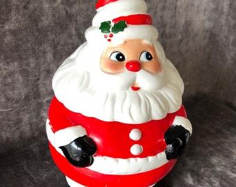 Vintage Santa Claus omnibus cookie jar