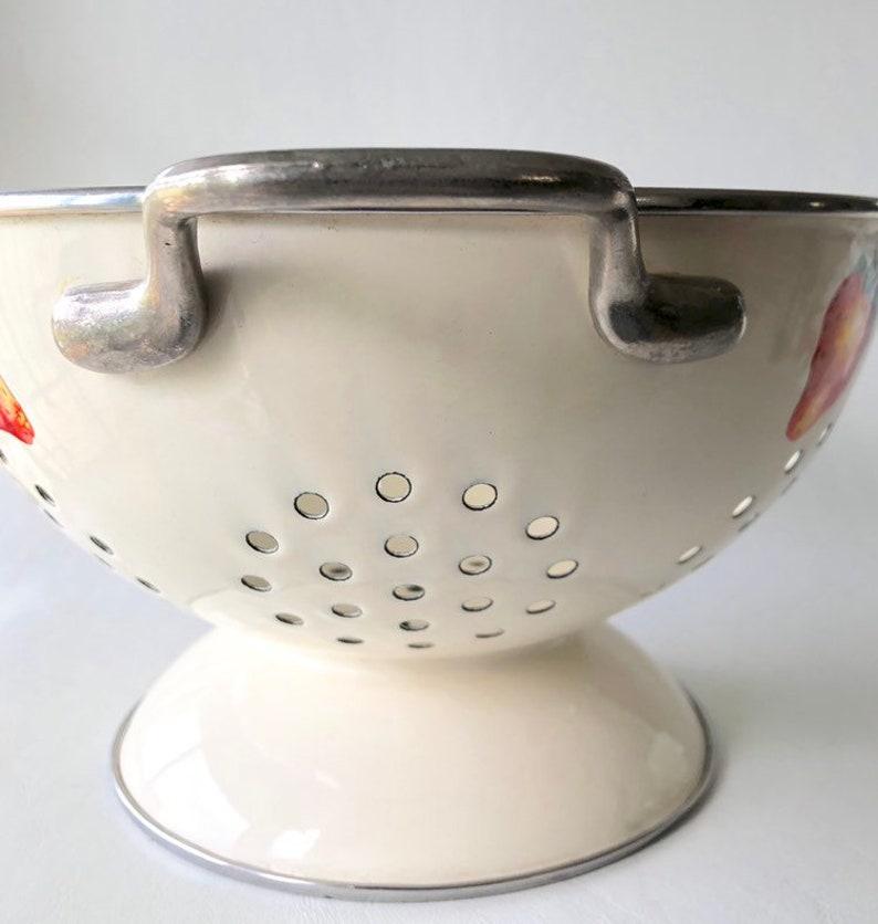 Vintage Kobe Strawberry Enamel Strawberry Strainer Colander