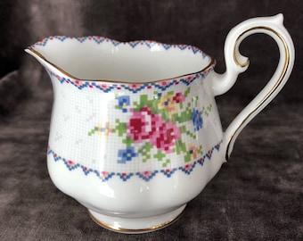 Vintage Royal Albert petite point creamer milk pitcher