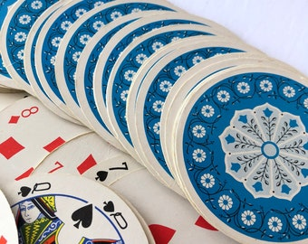 Vintage circulaire carte à jouer deck en cas