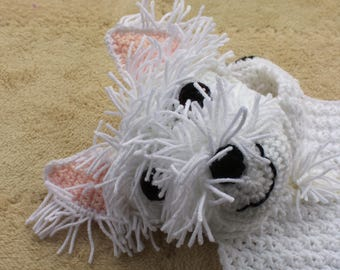 PATTERN:  Blankie Crochet Pattern // West Highland White Terrier // Instant PDF Download// Baby gift // Photo prop // Dog Lover // Lovey