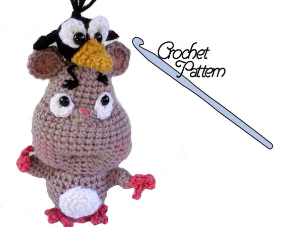Boh And Crow Crochet The Mouse And Bird Characters From Etsy