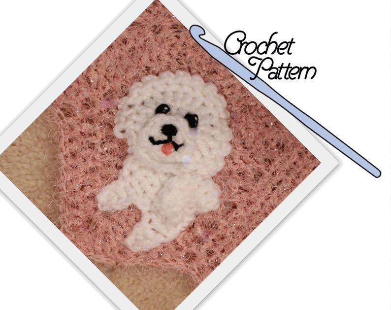 Bichon Frise Patch // Patchwork Puppy Project // Applique // Dog //  Embellishment // Decoration // Personalize // Make and sew on