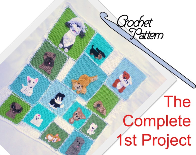 The Complete Patchwork Puppy Project  Quilt 1 // 14 dog breed image 0
