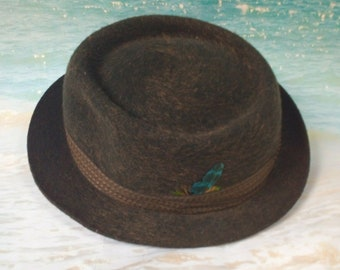 465c94288a265 Vintage Attaboy PARMA TRILBY HAT ~ Brushed Brown Bronze Wool ~ 7 1 8 inch ( Uk) Mod 1950 S - Freepost Uk - Usa