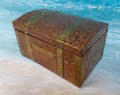Early 20th Century Arts Crafts Style Copper and Brass Covered Tea Caddy - 1910 - Tea Caddy - Art Deco - Antique - Tea - English Tea