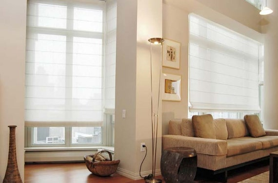 Items Similar To Sheer Roman Shade Quot White Sheer Shade