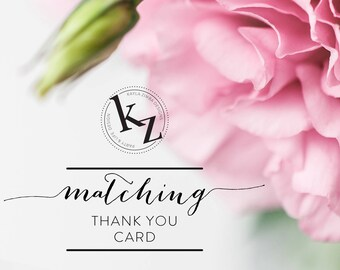 Matching Thank You Card Add On
