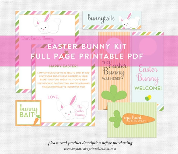 photograph relating to Letter From Easter Bunny Printable titled Easter Bunny Printable Package deal, Bunny Bait, Easter Egg Hunt