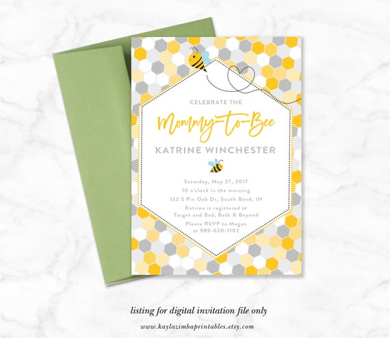 Baby shower invitation mommy to bee mom to be invite bee etsy image 0 filmwisefo