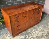 1960s Rosewood Low Dresser Vintage Mid-Century Danish Modern - Dealer Special - Restoration Candidate