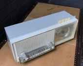 1940s Clock Radio Console Table Vintage Mid-Century Modern Transistor Braun Dieter Rams Style