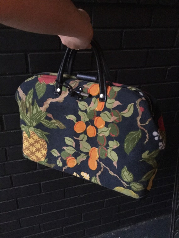 MidCentury Modern Swedish Bag Fruit Print
