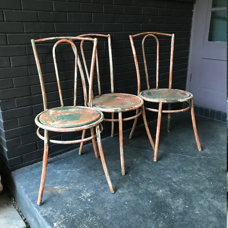 1900-1950 The Cheapest Price Industrial Vintage Vintage French Wooden Bistro Chair