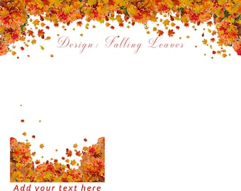 Autumn leaves, Halloween, Thanksgiving, Etsy Cover banner and shop icon, Falling Leaves, instant download, blank, illusion of falling leaf