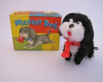 Vintage Wind Up Mascot Dog (Japan) 800