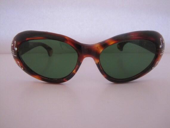 Vintage 1950s Jewelled Cat-Eye Italian Sunglasses