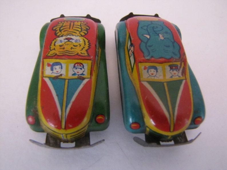 Vintage Japan Mini Tin Circus-Zoo Car