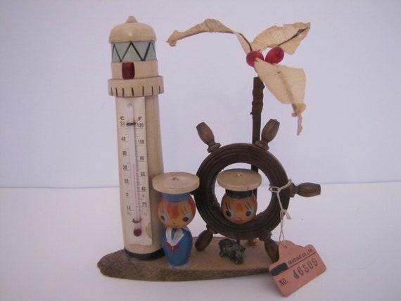 25 cm Nostalgie Badethermometer Celsius Holz Holzthermometer Fahrenheit