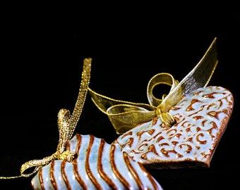 Heart Pendant, H7, Hanging Heart Pendant, Hanging Heart Decoration, Wedding Favor, Party Favor, Wedding Decor, Textured Heart Pendant