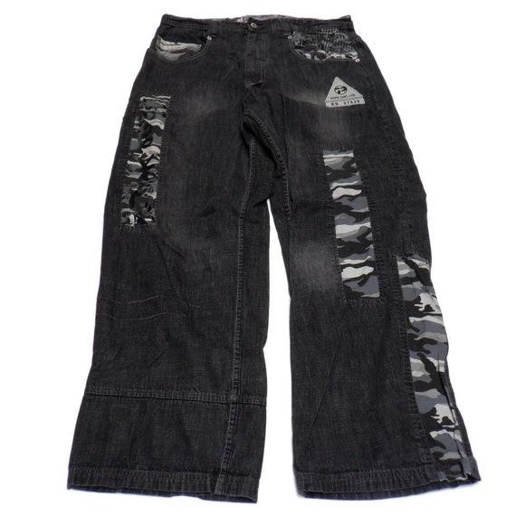 Pepe Jeans Men's 37-38 Black Patchwork Wide Leg Gr