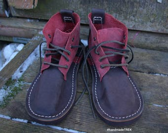 Cherry brown, outdoor walk, leather TREK Basic 5 size EU 39