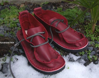 Cherry Mocassin, soft leather TREK high size EU 36