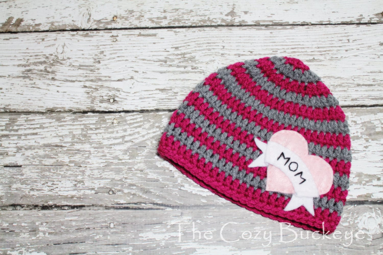 I Heart Mom Tattoo sombrero con apliques de fieltro sombrero | Etsy